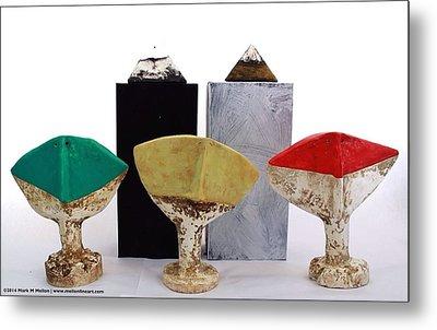 Fabulas Humanum Collectors Set Metal Print by Mark M  Mellon