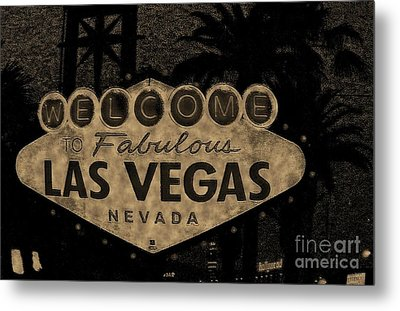 Fabulost Vegas Spelling Correct Metal Print by John Malone