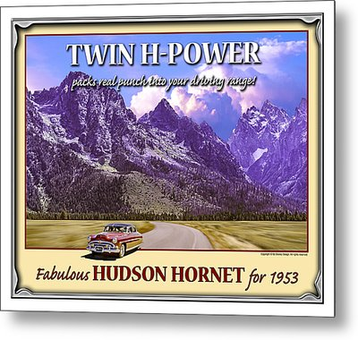 Fabulous Hudson Hornet For 1953 Metal Print