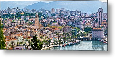 Fabulous Split Waterfront Aerial Panorama Metal Print