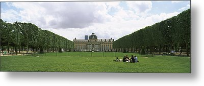 Facade Of A Building, Ecole Militaire Metal Print