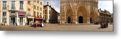 Facade Of A Cathedral, St. Jean Metal Print by Panoramic Images