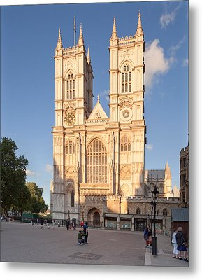 Facade Of A Cathedral, Westminster Metal Print