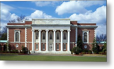 Facade Of A Library, Lilly Library Metal Print by Panoramic Images