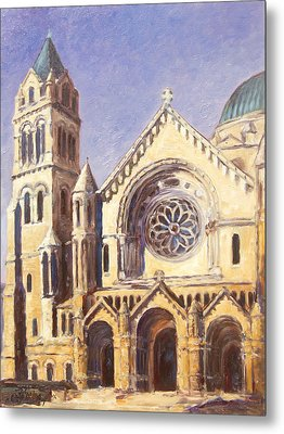 Facade Of Cathedral Basilica In St.louis Metal Print by Irek Szelag