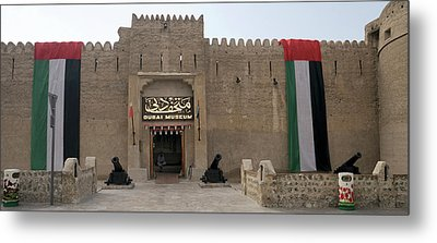 Facade Of Main Entrance Of Dubai Metal Print by Panoramic Images