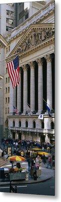 Facade Of New York Stock Exchange Metal Print