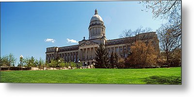 Facade Of State Capitol Building Metal Print by Panoramic Images
