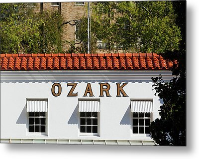 Facade Of The Ozark Bathhouse Metal Print