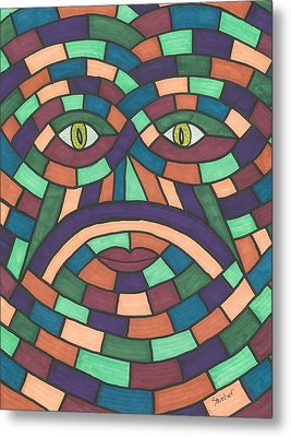 Face In The Maze Metal Print