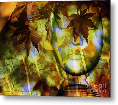 Face In The Rock Dreams Of Tulips Metal Print