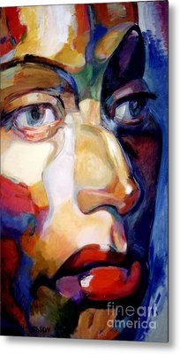 Face Of A Woman Metal Print by Stan Esson