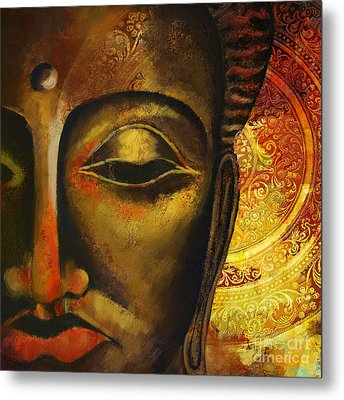 Face Of Buddha  Metal Print