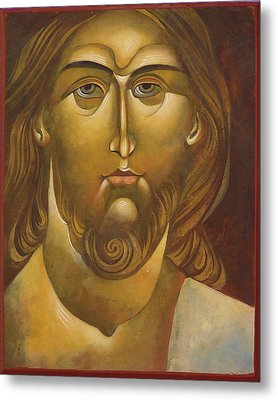 Face Of Christ Metal Print by Mary jane Miller