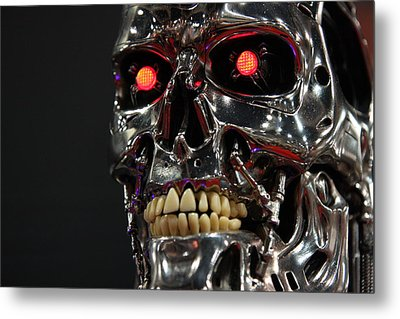 Face Of The Machine Metal Print