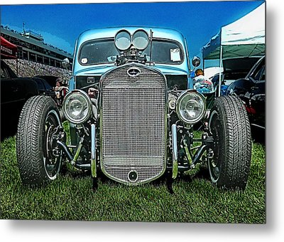 Face Of The Rat Rod Metal Print by Victor Montgomery