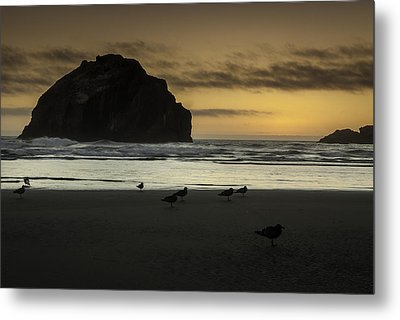 Face Rock Bandon By The Sea Metal Print by Jean-Jacques Thebault