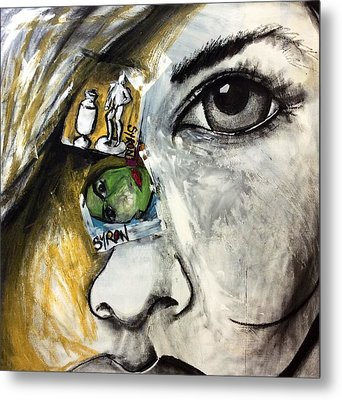 Face To Face Metal Print by Helen Syron