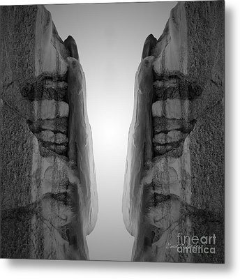 Face To Face Montage I Metal Print by Dave Gordon