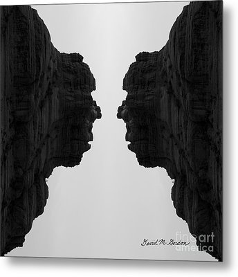 Face To Face Montage II Metal Print by Dave Gordon
