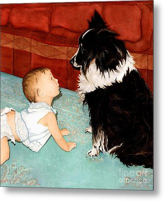 Face-to-nose Metal Print by Barbara Jewell