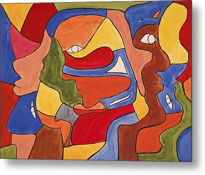 Faces Metal Print by Jose Rojas