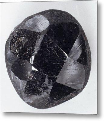 Faceted Bort Diamond Metal Print by Dorling Kindersley/uig