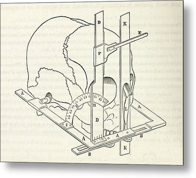 Facial Goniometer Metal Print by General Research Division/new York Public Library