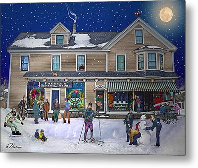 Faddens General Store In North Woodstock Nh Metal Print by Nancy Griswold