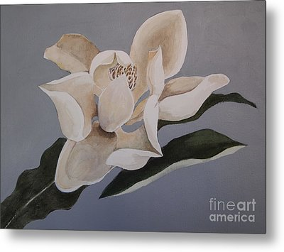 Metal Print featuring the painting Faded Glory by Nancy Kane Chapman
