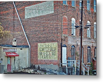 Metal Print featuring the photograph Faded Signs by Linda Brown