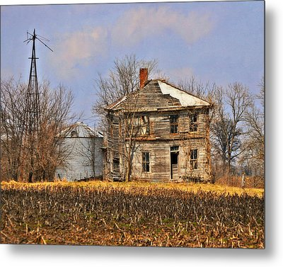 Fading Farm Metal Print by Marty Koch