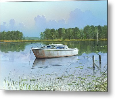 Metal Print featuring the painting Fading Memories by Mike Brown