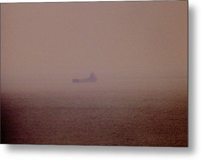 Fading Spector Of The Straits Metal Print