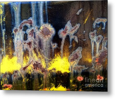 Fae And Fireworks Abstract Metal Print