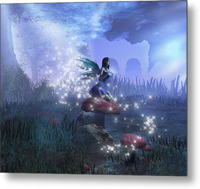 Metal Print featuring the digital art Faerie by David Mckinney