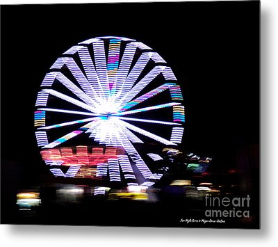 Fair Night Ferris Metal Print