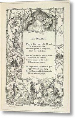 Fair Rosamond Metal Print by British Library