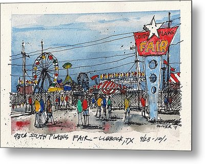 Metal Print featuring the mixed media Fair Time by Tim Oliver