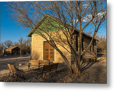 Metal Print featuring the photograph Fairbank Schoolhouse by Beverly Parks