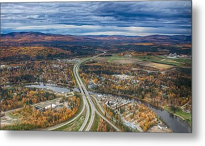 Metal Print featuring the photograph Fairbanks Alaska The George Parks Highway by Michael Rogers