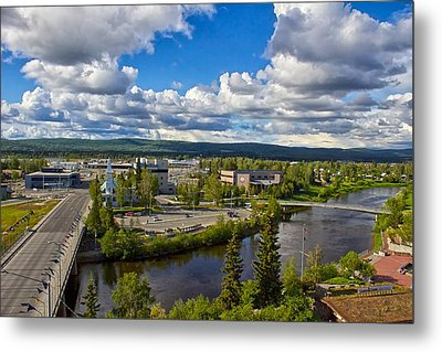 Metal Print featuring the photograph Fairbanks Alaska The Golden Heart City 2014 by Michael Rogers