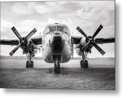 Metal Print featuring the photograph Fairchild C-119 Flying Boxcar - Military Transport by Gary Heller