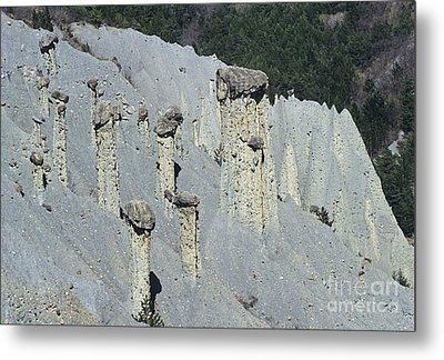 Fairey Chimneys Geological Formations Metal Print by Sami Sarkis