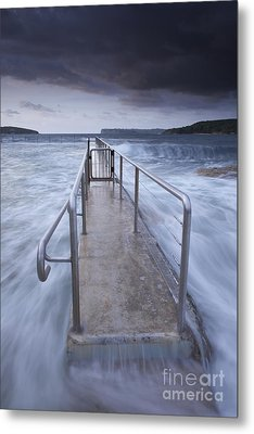 Fairlight Tidal Pool Metal Print by Donald Goldney