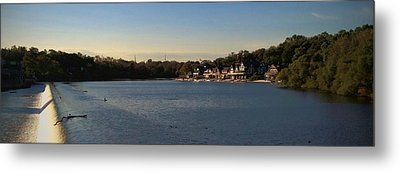 Fairmount Dam And Boathouse Row Metal Print by Photographic Arts And Design Studio