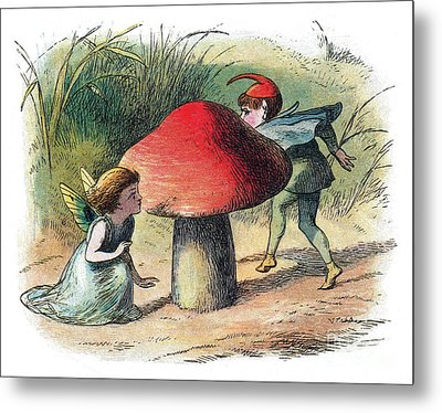 Fairy And Elf-legendary Creatures Metal Print by Photo Researchers