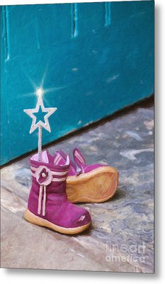 Fairy At The Door  Metal Print by Tim Gainey