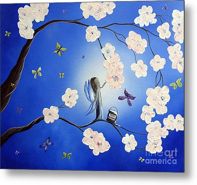 Fairy Blossoms By Shawna Erback Metal Print by Shawna Erback