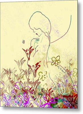 Metal Print featuring the digital art Fairy by Gabrielle Schertz